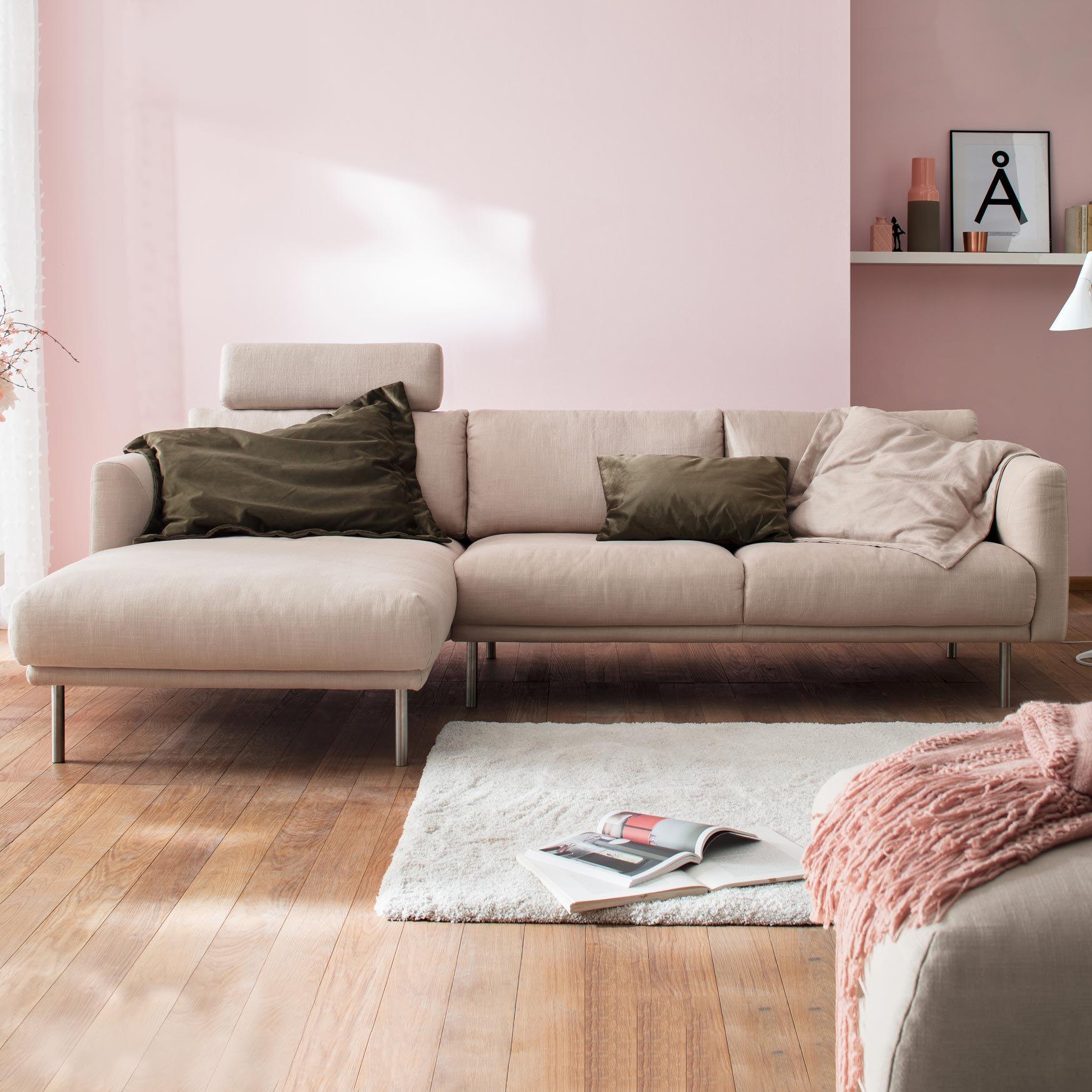 Modish Sofa Darlington Stoff von Bär - Möbel Bär AG LL-49