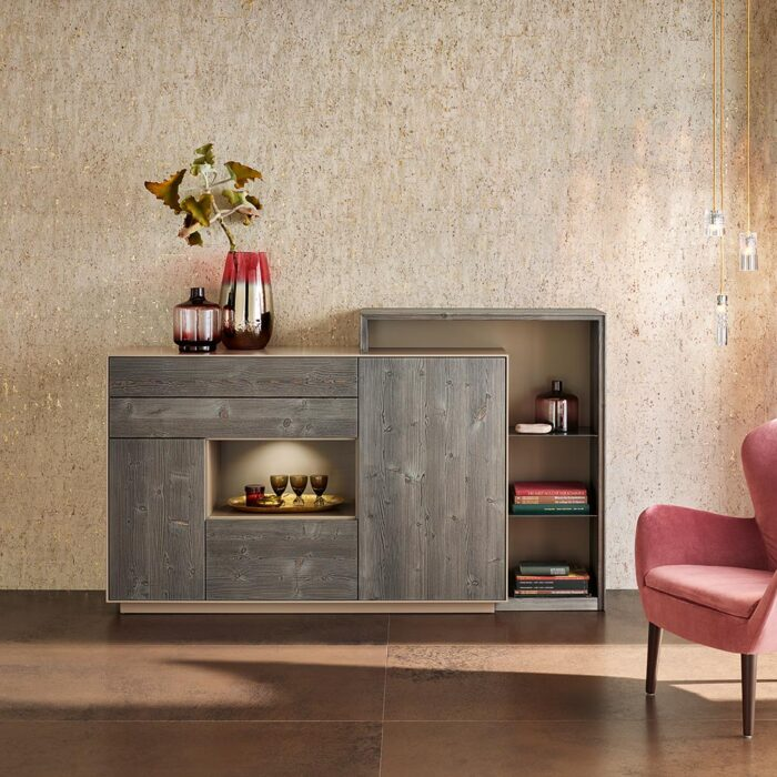 Anrei Puro Highboard in Bergfichte bronce