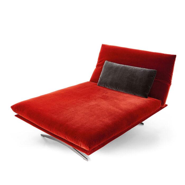 Koinor Sofa Francis in rot Fashion-Stoff