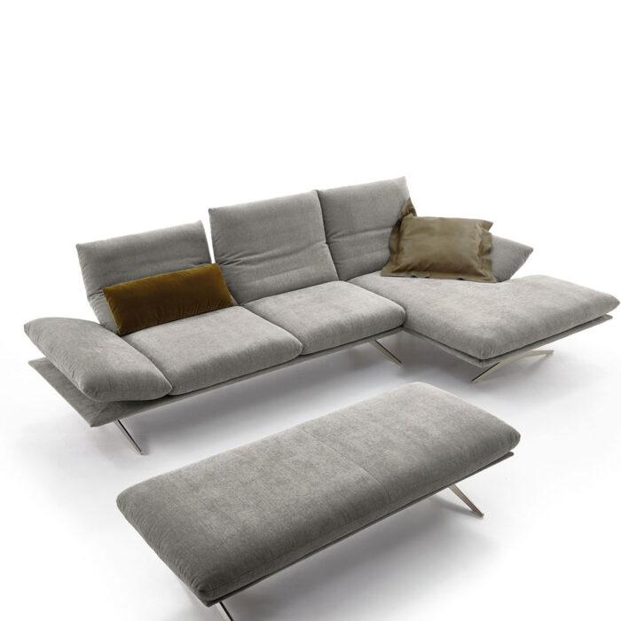 koinor sofa francis in grau m bel b r ag. Black Bedroom Furniture Sets. Home Design Ideas