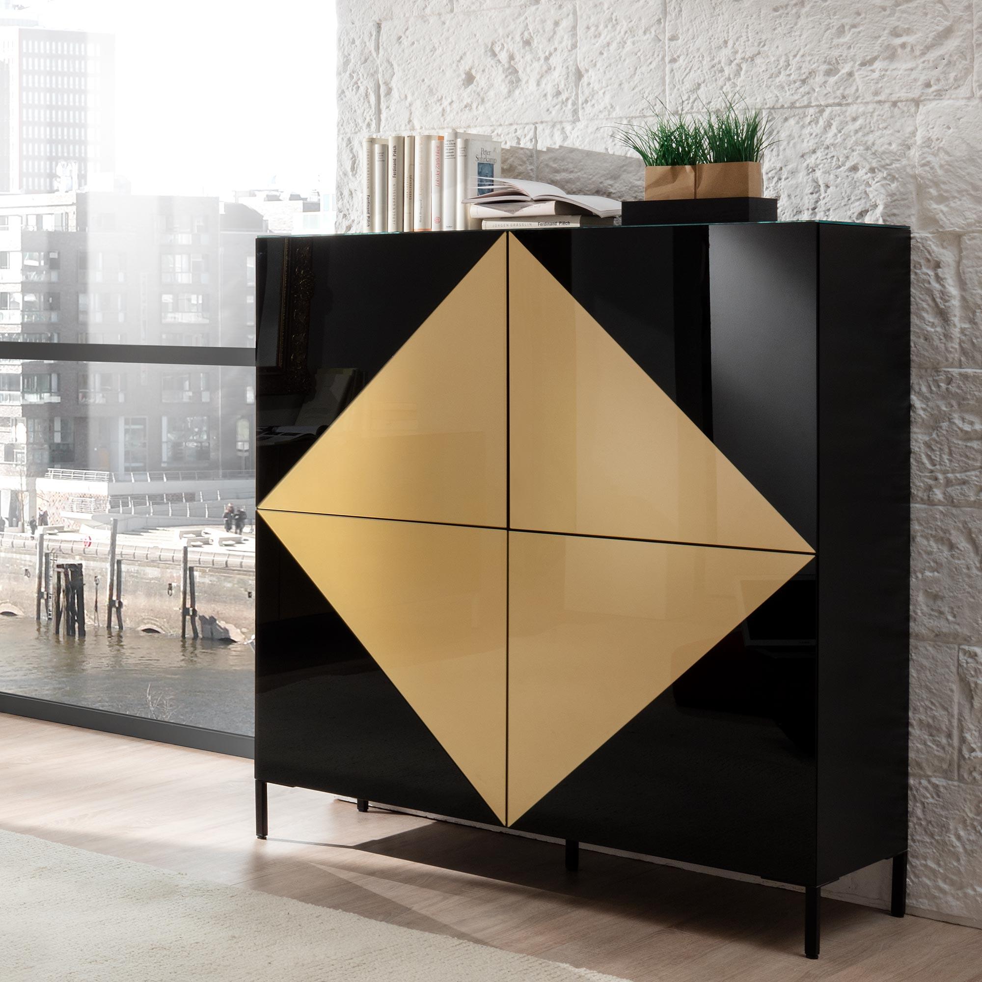 Ayla Sideboard Gold Von Mab Mobel Bar Ag