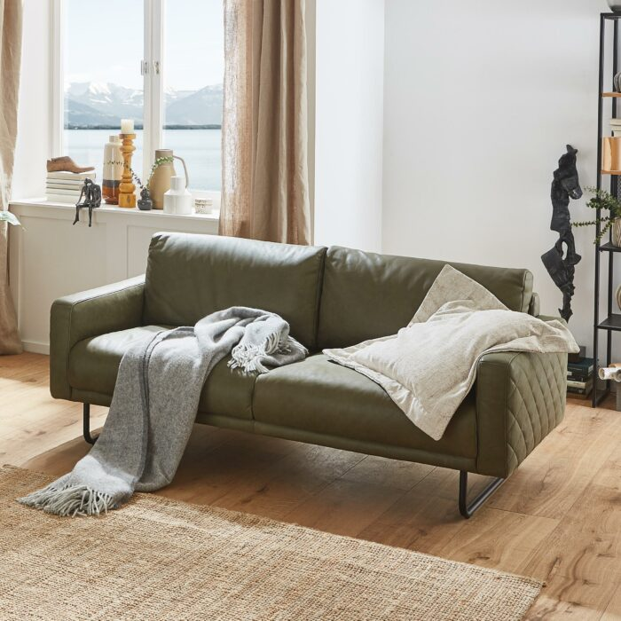 Sofa Darlington Leder gesteppt