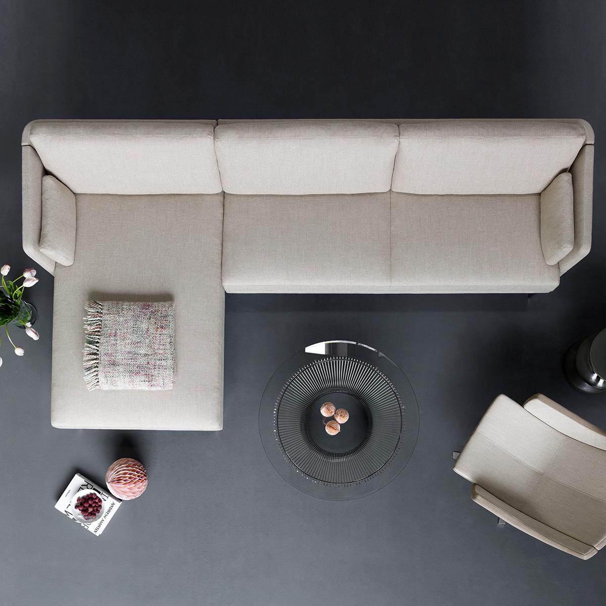 intertime frame 4er eck sofa m bel b r ag. Black Bedroom Furniture Sets. Home Design Ideas