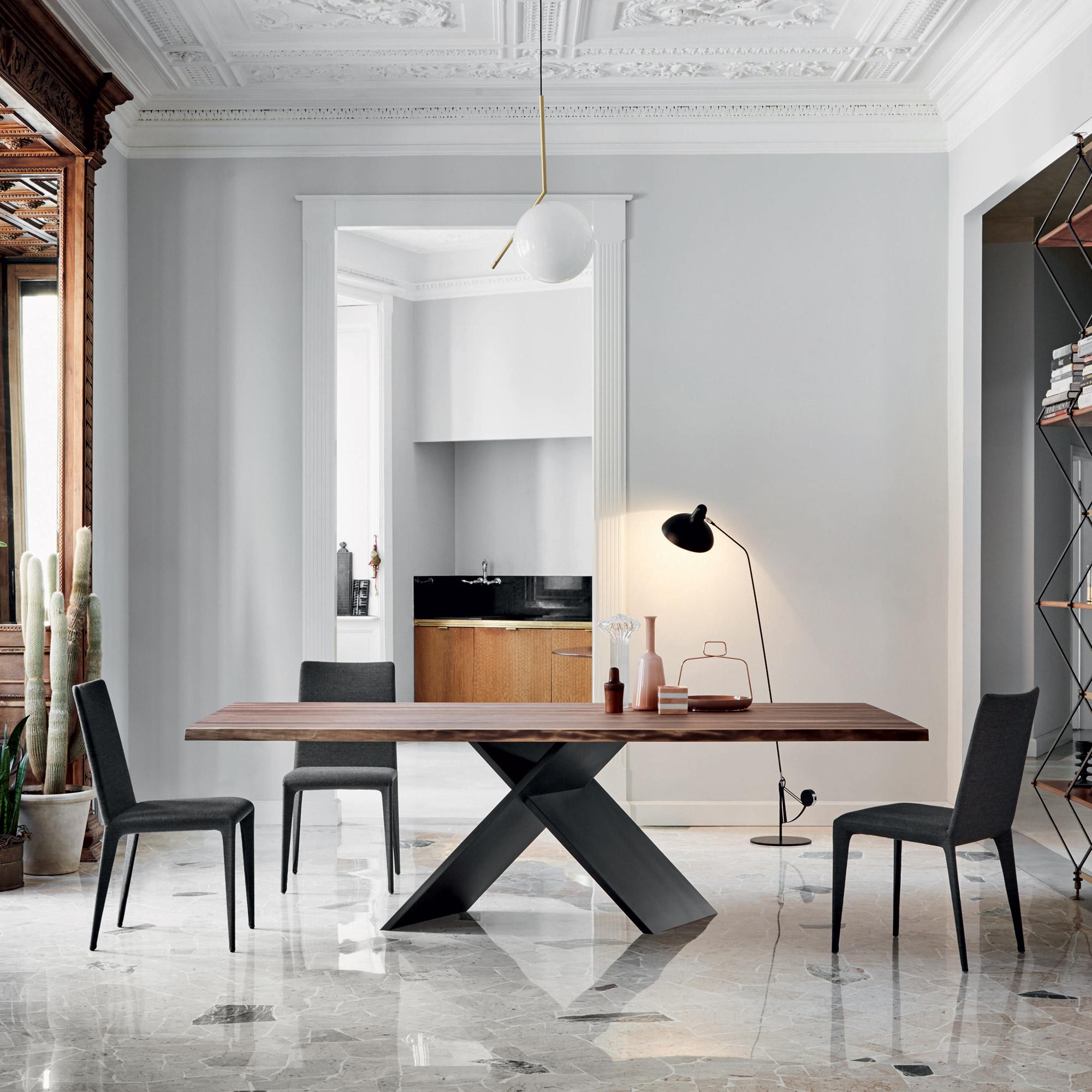 Gewaltig Amerikanische Möbel Und Accessoires Ideen Von Bonaldo Ax Tisch Mit Amerikanischer Nussbaum Tischplatte