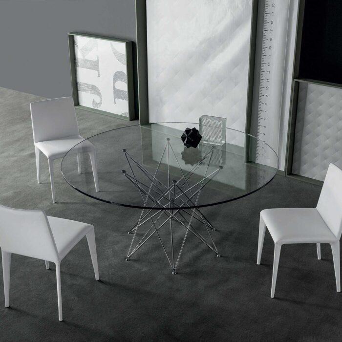 Bonaldo Octa Tisch rund Glas